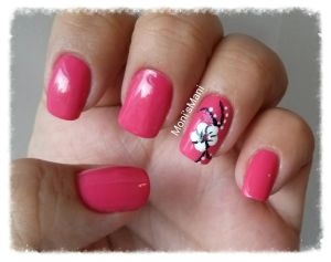 opi feeling hot hot hot and flower