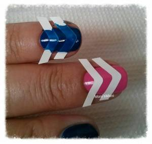shine & sheen blue and pink mani 2