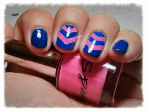 shine & sheen blue and pink mani 3