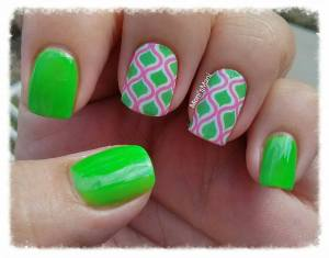 shine & sheen green mani