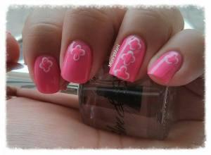 shine & sheen pink mani