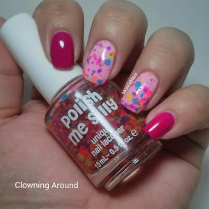 polish me silly clowning around pink