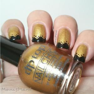 tip top gold digger nail art