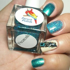 parrot polish feather