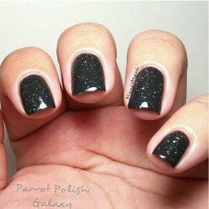 parrot polish galaxy nails