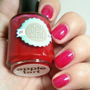 finger lickin lacquer apple tart 1