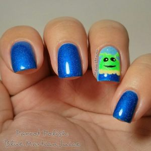 parrot polish blue martian juice