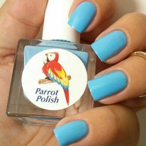 parrot polish twitter blue