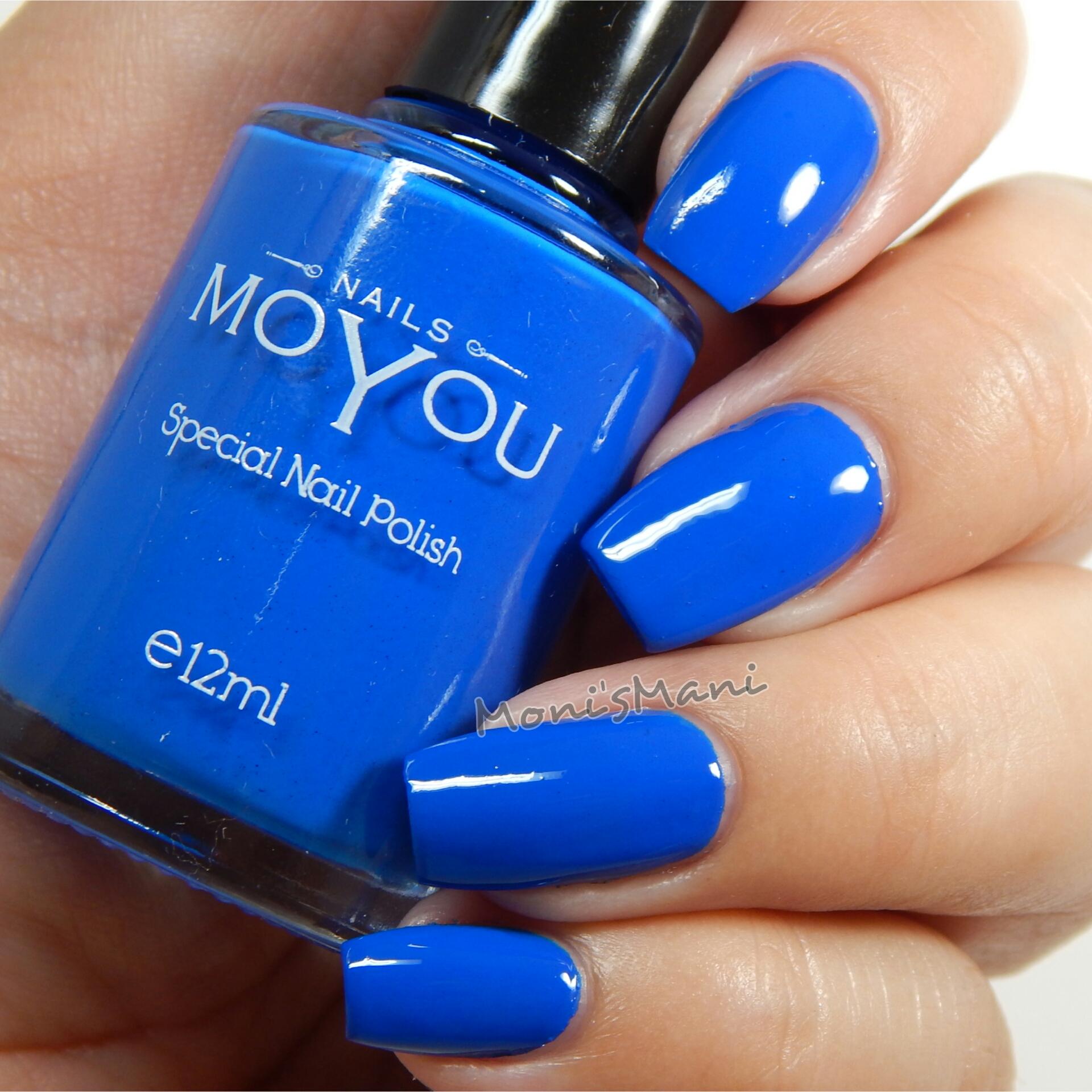 MoYou Nails USA Blue Nail Polish | Monismani